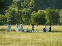 Hochzeitspaare in der kaiserlichen Sommerresidenz in Chengde, Provinz Hebei (2009)