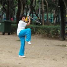 Schwertgymnastik im Victoria Park (2015)